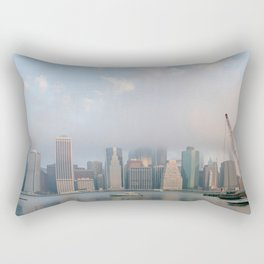 Cloudy in New York Rectangular Pillow