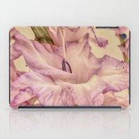 shabby chic iPad Cases featuring Shabby chic gladioli by Shalisa Photography