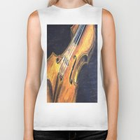 violin Biker Tanks featuring Violin by Renny Hendra