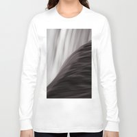 waterfall Long Sleeve T-shirts featuring Waterfall by Alexandra Str
