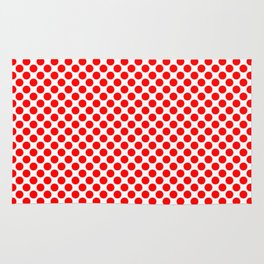 Circle Spot Red Polka Dot Pattern Rug