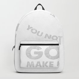 Goats Make Me Happy You Not So Much Funny product Goat design Backpack