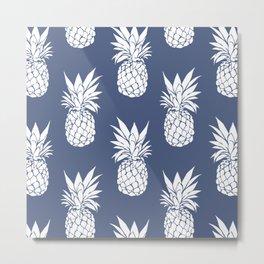 Pineapple Blues Metal Print