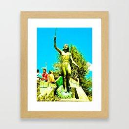 Powerful God cares for ill. Framed Art Print