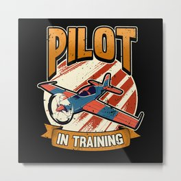Funny Airplane Flying Pilot Saying Gift Metal Print