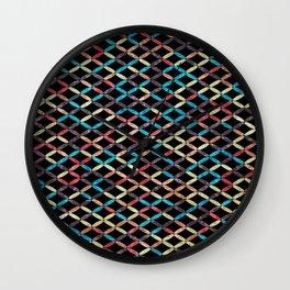 Colorful Geometric Pattern #03 Wall Clock