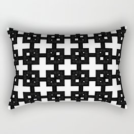 Telder Black & White Rectangular Pillow