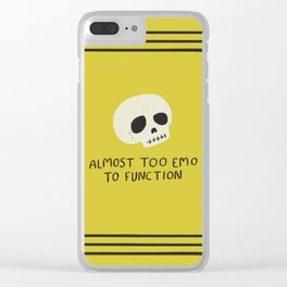 Almost Too Emo to Function Clear iPhone Case