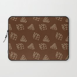 the pyramids and cubes on a brown background . artwork Laptop Sleeve