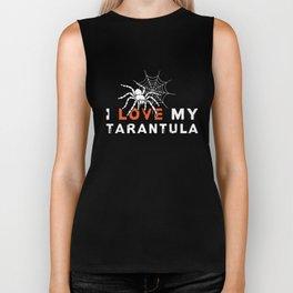 I Love My Tarantula TShirt Biker Tank