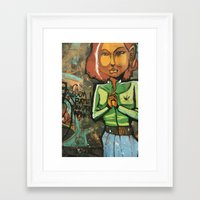 grafitti Framed Art Prints featuring Grafitti by Fabiana Domingues