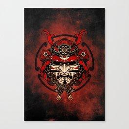 Samurai Warrior Mask Canvas Print