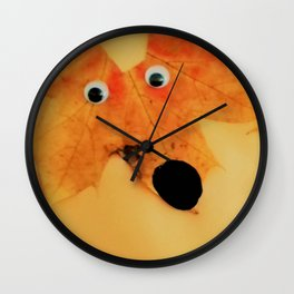 autumn foxes Wall Clock