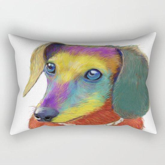 Dachshund Dog Rectangular Pillow
