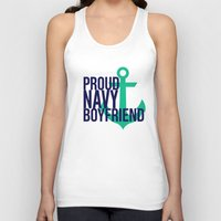 boyfriend Tank Tops featuring Proud Navy Boyfriend by The Other McClane