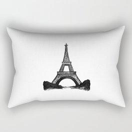 Eiffel Tower in Black Rectangular Pillow