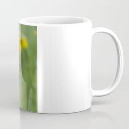 Ladybug climbing wildflower Coffee Mug