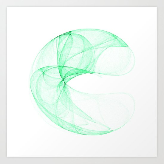 Green attractor Art Print