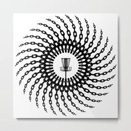 Disc Golf Basket Chains Metal Print