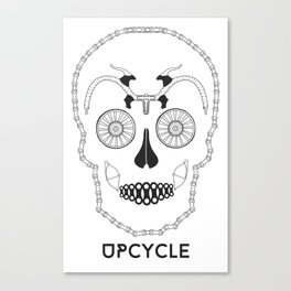 Bicyskull Canvas Print