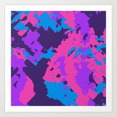 Pink Purple and Blue Abstract Art Print