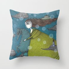 The Sea Voyage Throw Pillow