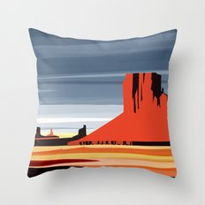Monument Valley sunset magic realisim Throw Pillow