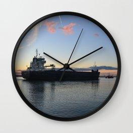 Ship Beaumare At Dusk Wall Clock