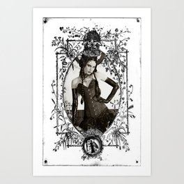 fetish b&w Art Print