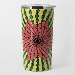 coral flower Travel Mug