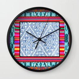 Peruvian Fabric Wall Clock