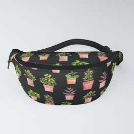 Indoor Plant Collection Black Fanny Pack