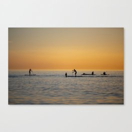 Water sports stand up paddling Canvas Print