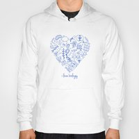 biology Hoodies featuring i heart biology by lucylamplight