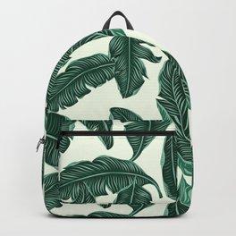 Banana leaves tropical leaves green beige #homedecor Backpack