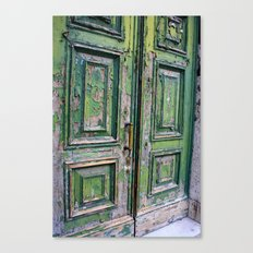 Green Door 3 Canvas Print