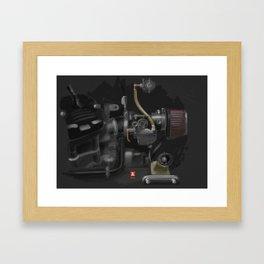 Honda CX500 Carb Framed Art Print