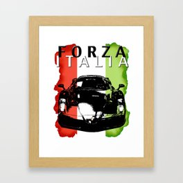Forza Italia Framed Art Print