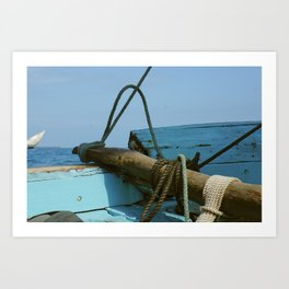 On a Dhow. In the Indian Ocean. Art Print