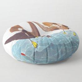 Stormy Petrel Bird Floor Pillow