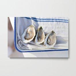 Oysters on Duxbury Bay Metal Print