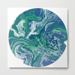Plant Earth Galaxy Gradient Metal Print