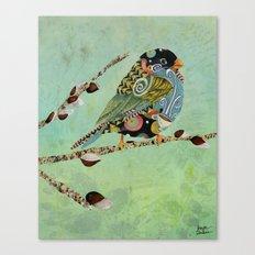 Cafe Swirly Bird 5 Canvas Print