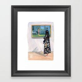 Looking at Hopper Framed Art Print