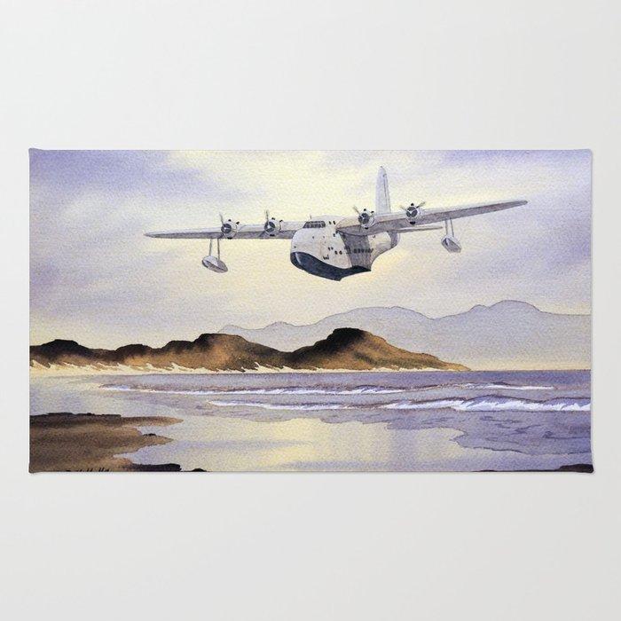 Short Sunderland Aircraft Rug
