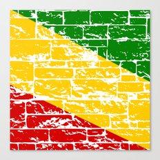 Rastafari Flag Canvas Print