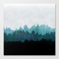 oregon Canvas Prints featuring Woods Abstract  by Mareike Böhmer