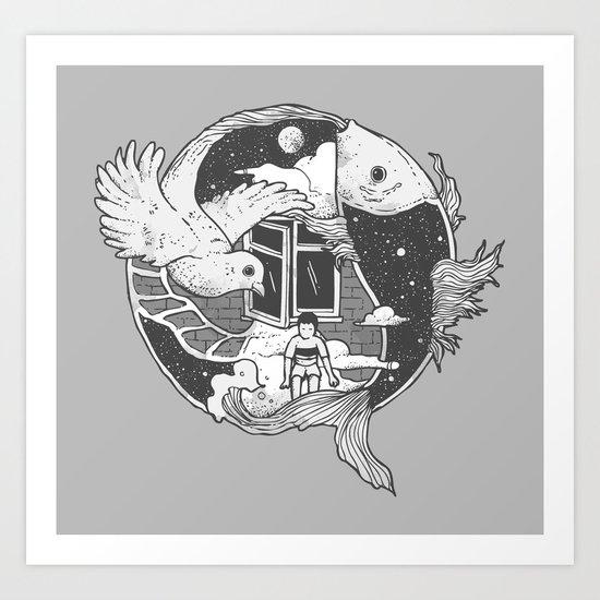 Flowing Dream Art Print