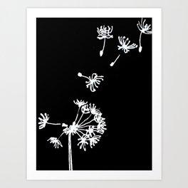 Dandelion 2 Drawing Art Print