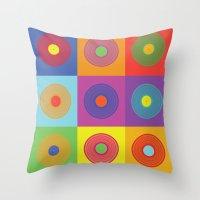 deadmau5 Throw Pillows featuring Vinyl Pop Art by Sitchko Igor